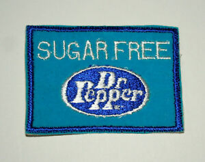 Vintage Rare Sugar Free Dr Pepper Soda Hat Jacket Patch New NOS 1970s