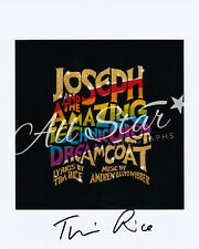 More details for joseph - tim rice signed photograph lyricist / composer 01