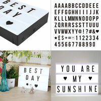 50/10/5/2 * A4 Cinematic Light Box LED Letter Lamp Party Decor Color animal Card