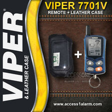 Viper 7701V 2-Way LCD Remote Control AND Leather Case Combo For Viper 5301V 5900