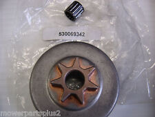 NEW Husqvarna 36 41 136 141  Chainsaw Clutch Drum 530069342 with Bearing