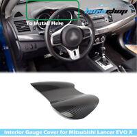 Carbon Fiber Gauge Speedometer Cover Fit For Mitsubishi Lancer EVO X 10th 08-16
