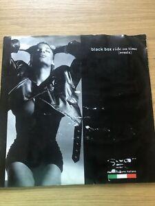 "Black Box – Ride On Time (Remix). 12"" vinyl 1989 RECORD"