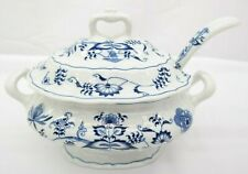 Blue Danube Serving Bowl Soup Dish With Lid and Ladle  MT