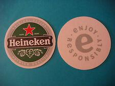 Dutch Beer COASTER Mat ~**~ HEINEKEN Brewery Original Recipe ~ Enjoy Responsibly