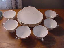 """6 Sets of Vintage Tuscan Fine Bone China """"Dover"""" Snack Sets, Trays and Cups, Ex"""
