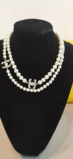 New classic Chanel double C White Pearl Necklace