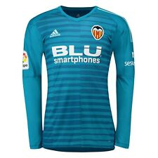 Valencia adidas Kids 2018-19 GK Football Shirt - Blue - New