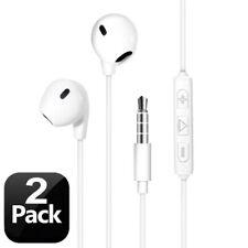 2X Handsfree Wired Headphones Earphones Earbud w/Mic For Samsung S10+S10E Note 9