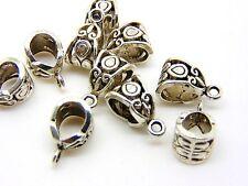 20 x Tibetan Silver Hollow Bails 13mm Jewellery Fit European Bracelet Q155