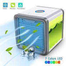 7 LED Aire acondicionado evaporativo Mini refrigerador enfriador humidificador