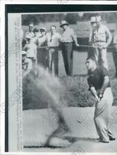 1952 Louisville KY Golfer Jim Turnesa Chipped Ball Out of Sand Trap Press Photo