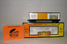 MTH RAIL KING O SCALE #30-74126 FORBES FIELD 40' DOUBLE DOOR BOX CAR