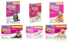 Johnsons Veterinary 4fleas Tablets Cats Kitten Dogs Puppy Flea 3&6 Treatment Pet