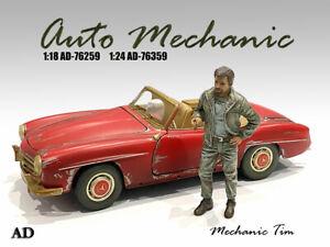 American Diorama 1:24 Scale (7.5cm) Mechanic Figure - Mechanic Tim # AD-76359