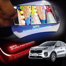 LED Wireless Battery Charger Cup Holder Door Catch Plate for KIA 17-18 Sportage