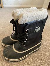 Black Waterproof Winter Snow Boots by Sorel Size UK 3.5