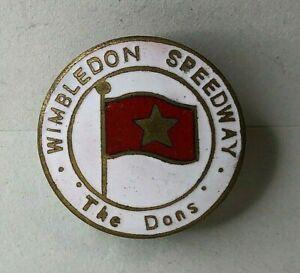 1966 wimbledon Speedway The Dons Enamel Badge 23 mm diameter  caxton