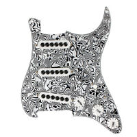 Kmise Prewired Loaded Pickguard for Electric Guitar Parts SSS Pickups Parts