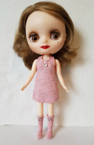 MIDDIE BLYTHE Custom Clothes Sweet Pink DRESS and BOOTS Handmade Fashion NO DOLL