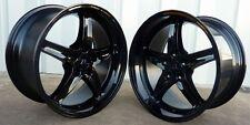 "18"" Full Gloss Black Mustang Cobra R Wheels Deep Dish 18x9 18x10 5x114.3 94-04"