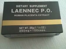 Japan JBP Laennec P.O. Supplement Box of 100 caps Made in Japan #tw