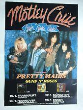 MÖTLEY CRÜE  1988  TOURNEE  --  orig. Concert Poster - Konzert Plakat  A1  NEU
