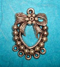 Heart Connector Pendant Tibetan Silver Victorian Heart