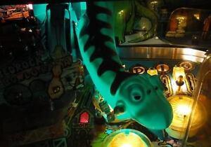 Flintstones Pinball Dinosaur light mod GREEN
