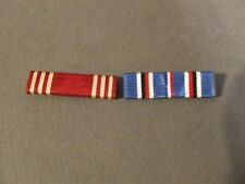 ORIGINAL WWII 2 MEDAL RIBBON BARS AMERICAN CAMPAIGN, US ARMY GOOD CONDUCT