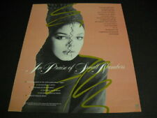 JANET JACKSON is praise of Number One and Number Six 1985 PROMO POSTER AD mint