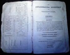 PHILADELPHIA DIRECTORY & STRANGER'S GUIDE For 1825 Thomas WILSON 1825  J. Bioren