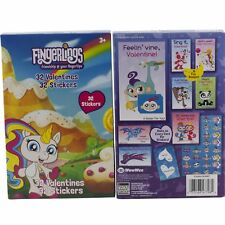 Fingerlings 32 Valentines Day Cards for School Class & Stickers