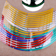 "16 Strips Motorcycle Car Reflective 17""-19"" Wheel Rim Stripe Tape Stickers Decal"
