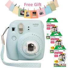 Fujifilm Instax mini 9 Camera Ice Blue + Fuji Instant 50Sheets White Film + Gift