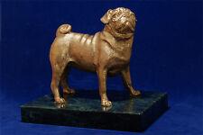 Hot cast bronze Pug sculpture. Great gift for dog lover.