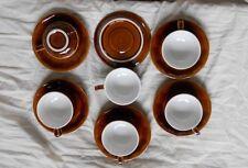 6 tasse&sous tasse a cafe de bistrot porcelaine de revol ancienne /neuve