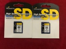 2 PROMASTER 8gb SD card HIGH SPEED PROFESSIONAL Memory card