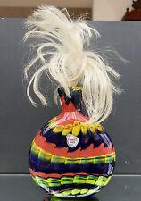 """XXL Schnupftabakglas - Bixl - Schnupftabakflasche """" Regenbogenfarben """" ! Nr. 97"""