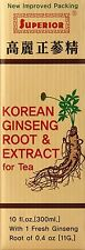 Korean Ginseng Root & Extract, Superior Trading Company, 10 oz