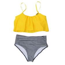 Women Printed High Waisted Bikini Set Swimsuit Padded Swimwear Bathing Plus Size