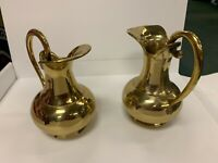 "VINTAGE INDIA BRASS PITCHER 7.5"" Great Condition"