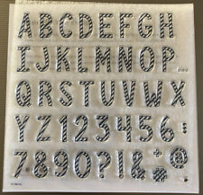 Close To My Heart CTMH Candy Cane Alphabet Stamps Retired Stamp Of The Month