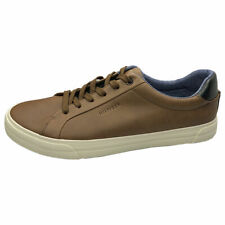 NEW TOMMY HILFIGER AUTHENTIC MEN'S BROWN CASUAL ATHLETIC SNEAKERS SHOES SIZE 9