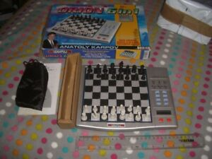 Millenium Orion 6 in 1 Electronic Chess Set, has all 32 Chessmen, 24 Draughts, W