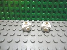 Lego 2 White 1x1 brick block with 5 studs NEW