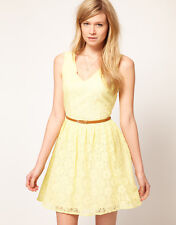 Oasis Lace Skater Dress with Vneck 16