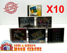 10X PC GAME / SOFTWARE CD-ROM JEWEL CASE -CLEAR PROTECTIVE BOX PROTECTORS SLEEVE