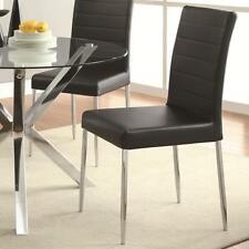 Vance Contemporary Black Vinyl Dining Side Chair by Coaster 120767BLK - Set of 4