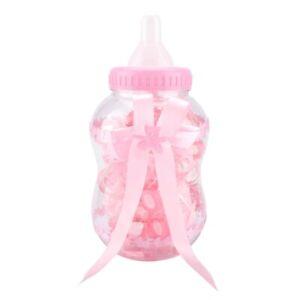 30Pcs Girl Boy Plastic Case Fashion Baby Shower Chocolate Bottle Clear Plastic